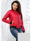 Женская короткая стеганная куртка бомпер