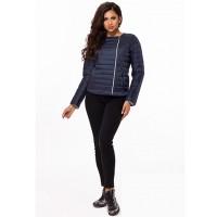 Женская короткая демисезонная куртка без воротника 823699-03