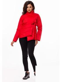 Женская куртка весна-осень ассиметрия с воротником стойка 823704-06