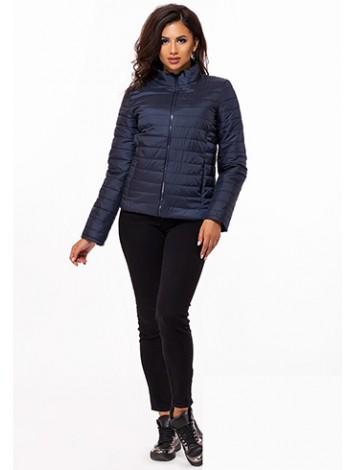 Модная короткая женская куртка на молнии с воротником стойка