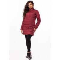 Женская удлиненная осенняя куртка на синтепоне