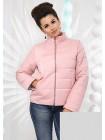 Стильная короткая женская куртка на синтепоне с воротником стойка 822955-58