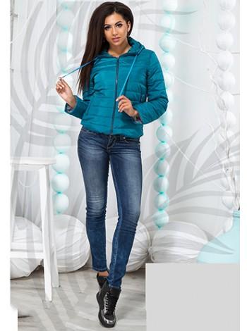 Женская осенняя куртка с капюшоном на синтепоне 822560-67