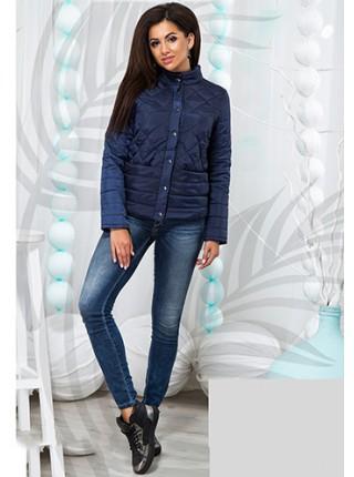... Модна коротка жіноча куртка на блискавці з коміром стойка 823707-11 7d6a34f6c5139