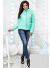Демисезонная женская куртка на кнопках с воротником стойка 822554-59