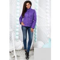 Модна коротка жіноча куртка на блискавці з коміром стойка 823707-11 f053d23aef303