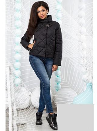 1777b3f9bd437b ... Демісезонна куртка стібка ромб з високим коміром стойкою 822579-82
