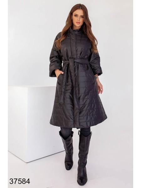 Болоневое пальто женское