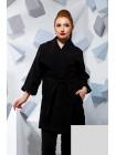 Короткое демисезонное пальто из кашемира большого размера