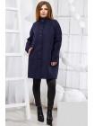 Укороченное  пальто с воротником стойка застежка пуговицы