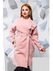 Женское батальное пальто из кашемира с поясом