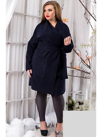 Кашемировое пальто большого размера с карманами