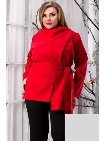 Красное кашемировое короткое пальто-кардиган