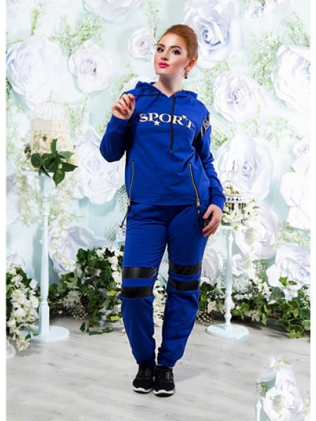 Жіночий спортивний костюм з трикотажу зі вставками эко-кожи SPORT ... 08ce9d8ca146d
