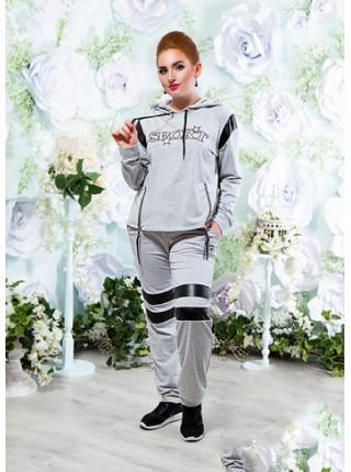 ... Жіночий спортивний костюм з трикотажу зі вставками эко-кожи SPORT e39b296deb006