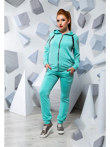 Модний спортивний костюм з трикотажу для повних жінок 815865-68 ... 0173451d9d905
