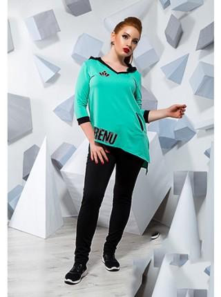 ... Модний спортивний костюм з тунікою для повних жінок 815869-72 eb6d1c272d469