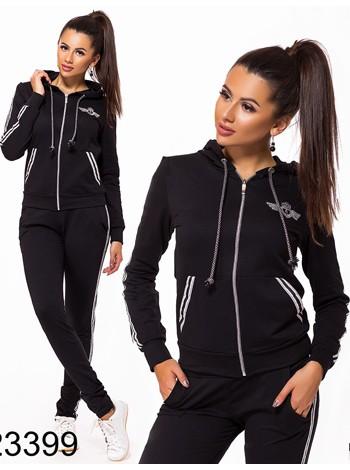 Женский спортивный костюм  с карманом кенгуру 823399-01