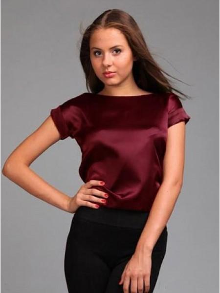 6b8250b0cdb Атласна блуза з коротким рукавом
