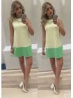 Двухцветное летнее платье VIVA