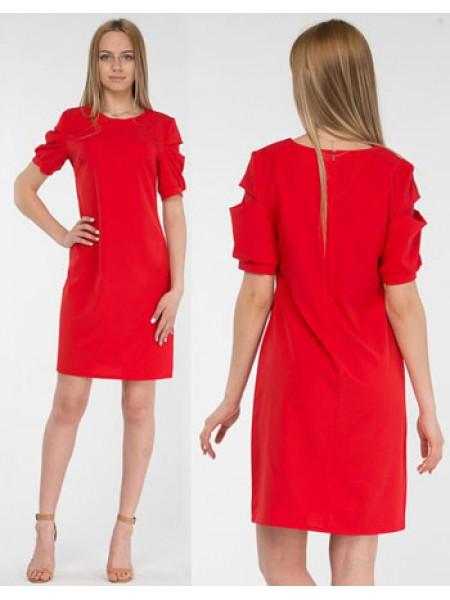 Летнее платье с коротким рукавом