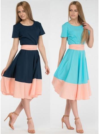 Платье солнце-клеш MIDISUN