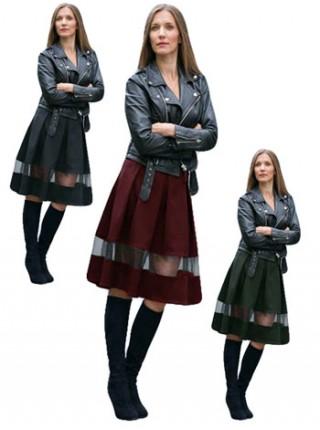 """Женская юбка миди со складками """"Ассоль"""""""
