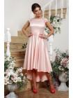 Шикарное атласное платье Нинель