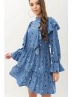 Красивое платье с рюшами Лесси