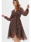 Шифоновое платье на запах Алеста