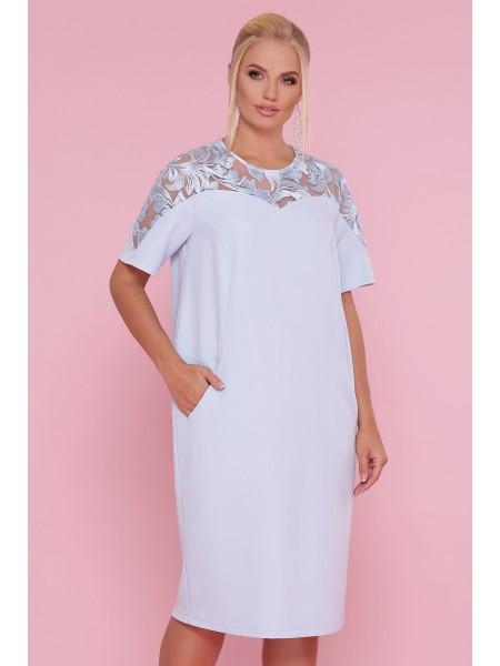 Платье с кружевом Адель-Б КР