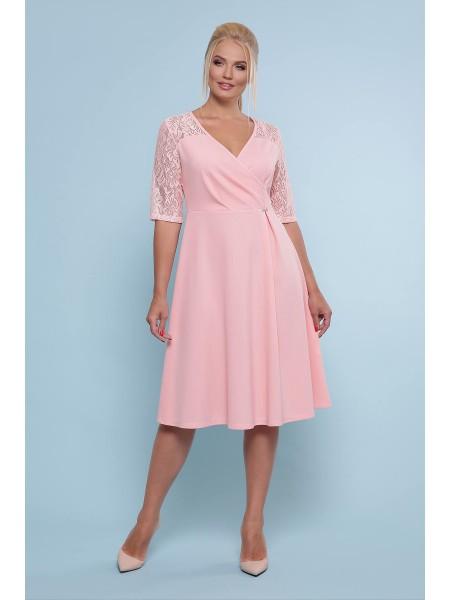 Платье с кружевом большого размера Ида-Б