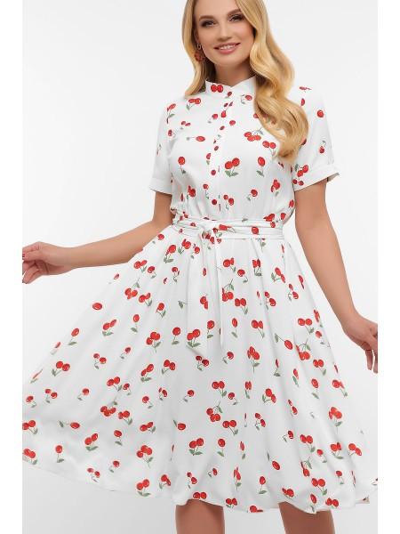 Платье с вишенками Изольда батал