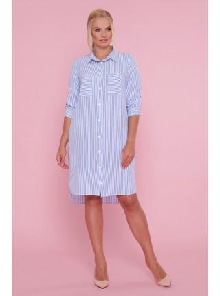 Платье - рубашка Валентина-Б, полоска
