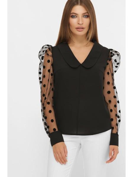 Блузка с прозрачным рукавом Сесиль