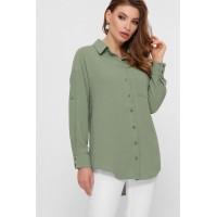 Элегантная однотонная блузка Андреа