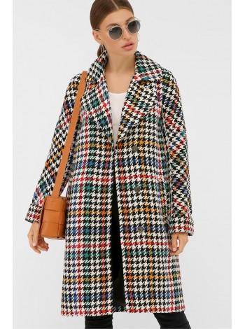 Демисезонное пальто с поясом П-399-100