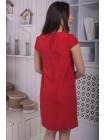 Женское прямое платье с вышивкой