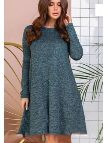 Ангоровое платье трапеция с длинным рукавом