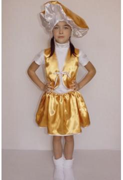Карнавальний костюм гриб Лисичка (дівчинка)