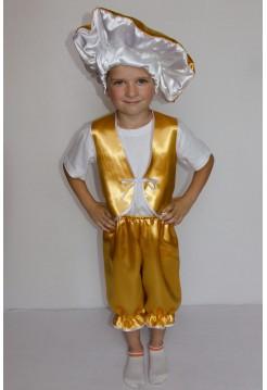 Карнавальный костюм гриб Лисичка (мальчик)