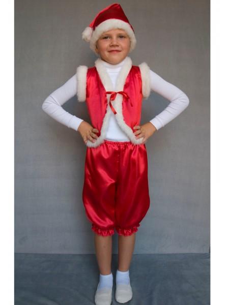 Карнавальный костюм Гномик (красный)
