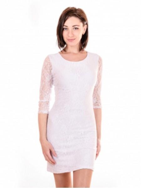 Коротка облягаюча сукня з гіпюру 9235aa223a8d7