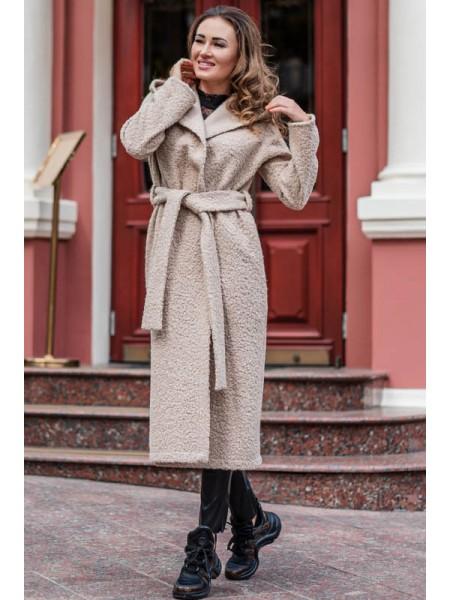 Пальто с капюшоном Мариз букле