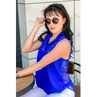 """Женская летняя блузка с кружевом """"Катти"""""""