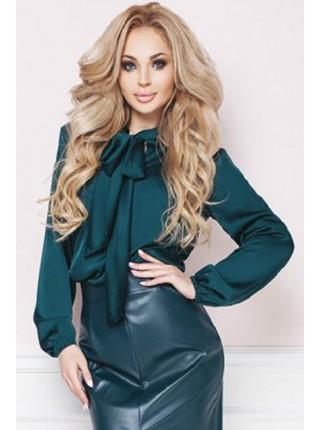 Шелковая блузка с кружевом Мери
