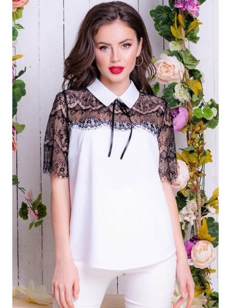 Блузка с кружевом Сарита