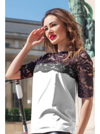 Нарядная блузка с кружевом Лериан