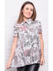 Красивая рубашка с цветами Дора