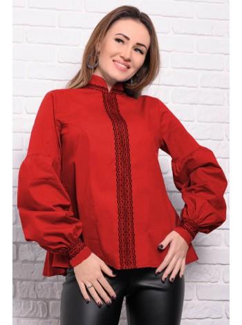 Женская рубашка с кружевом Анастасия